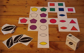 Symbotica card game in progress